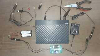 getlinkyoutube.com-AA Battery Powered Router تشغيل الراوتر باستخدام البطاريات