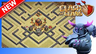"getlinkyoutube.com-Great TH10 War Base Anti-Lavaloonion ""The Blast Shield"" 