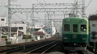 getlinkyoutube.com-京阪電車 特急と通勤準急に抜かれる区間急行