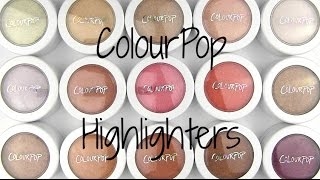 getlinkyoutube.com-ColourPop Highlighters: Live Swatches & Review