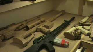 getlinkyoutube.com-Amazing Paper and cardboard guns