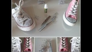 getlinkyoutube.com-How I Customize My Converse With Crystal Rhinestones