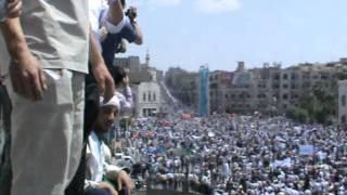 getlinkyoutube.com-أضخم مظاهرة في سورية - حماة 1-7-2011 ساحة العاصي