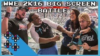 getlinkyoutube.com-BIG SCREEN BATTLE! WWE 2K16 w/ special guests AJ Styles & Bayley - who will reign supreme?