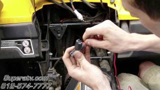 mqdefault can am commander light wiring harness install super atv youtube