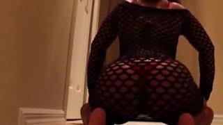getlinkyoutube.com-twerking  twerkingat target pool  stair case ebony thick booty