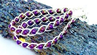 getlinkyoutube.com-Braided wirework earrings