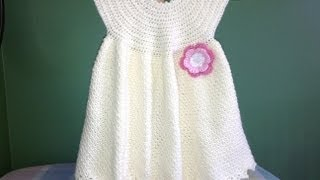 getlinkyoutube.com-How to Crochet a Baby Dress - Easy