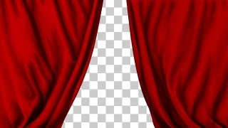 Theater Performance Red Curtain Closing - 2 Styles