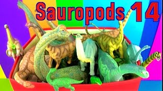 getlinkyoutube.com-DINOSAUR Box 14 TOY COLLECTION - SAUROPODS - LONG NECKS Unboxing Toy Review SuperFunReviews