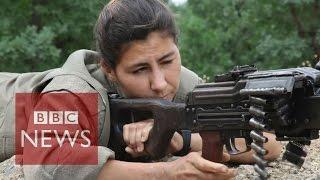 getlinkyoutube.com-Kurdish & Yazidi women fighting ISIS - BBC News