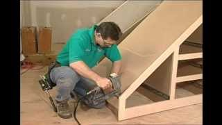 getlinkyoutube.com-Building Storage Spaces Part 1: How to build storage space under your Stairs.