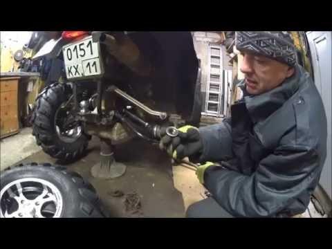 Замена ступичного подшипника CF moto X6 (Atv Syktyvkar)
