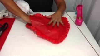getlinkyoutube.com-Aula 54 - Como fazer corações de papel de seda com babadinho e enchimento reciclável
