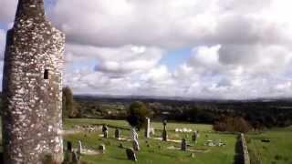 Kilcullen Round Tower view from Parott AR Drone 2.0