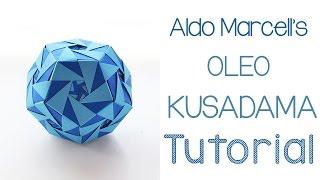 getlinkyoutube.com-Origami Oleo Kusudama Tutorial
