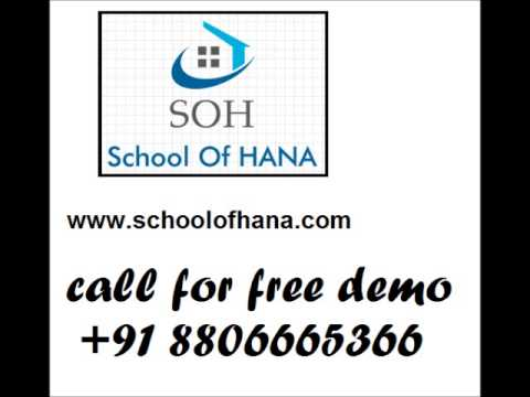 SAP HANA Training in  Viman Nagar, Pune, India, 411014 @ School of hana