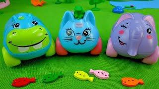 getlinkyoutube.com-Мультик про машинки.  Элли и Гиппи идут на рыбалку. Развивающее видео для детей.