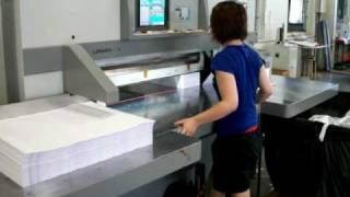 getlinkyoutube.com-LONGER Paper cutting machine 1150C (Single arm type)