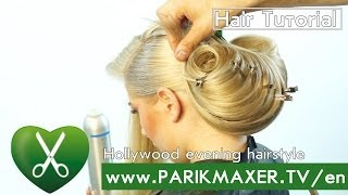getlinkyoutube.com-Hollywood evening hairstyle  parikmaxer tv english version