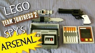getlinkyoutube.com-Team Fortress 2: LEGO Spy's FULL Arsenal! (LEGO Revolver, Butterfly Knife, Invis Watch, etc.)