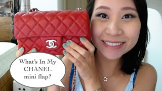 getlinkyoutube.com-What's in my Chanel Mini Flap