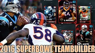 2016 SUPERBOWL TEAMBUILDER | BRONCOS & PANTHERS FORM A SUPERTEAM | Madden 17 Ultimate Team