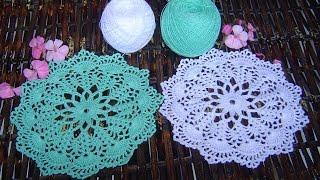 getlinkyoutube.com-Como hacer tapete,carpeta a crochet Paso a Paso