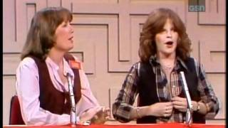 "Debralee Scott exposes her breasts on ""Password Plus"" game show from 1979"