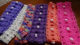 getlinkyoutube.com-Còmo hacer una diadema o banda para el pelo, puntada a crochet. Muestra No. 25