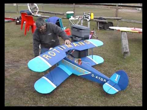 Lonziz RC BiPlane - Rothmans Display Team - Stampe SV4 BiPlane