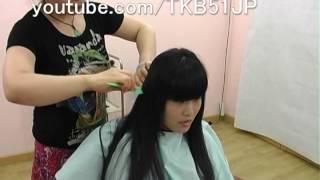 getlinkyoutube.com-☆ #560 High school girl Haircut  刈り上げJK