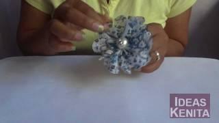 getlinkyoutube.com-Flor de tela para usarlo como accesorio