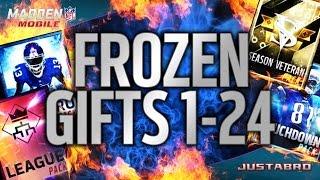 getlinkyoutube.com-ALL 1-24 FROZEN GIFTS PACK OPENING! - Madden Mobile 16
