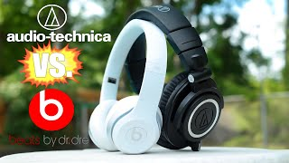 getlinkyoutube.com-Beats by Dre Solo 2 vs. Audio-Technica ATH-M50x Hands-On Comparison
