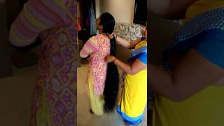 Hindu New Year Special Two Rapunzel Braiding Each other Knee Length Hair...