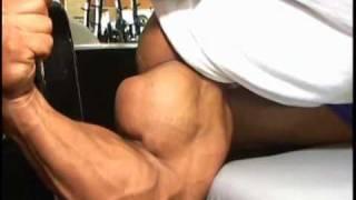 getlinkyoutube.com-Bodybuilder Josh Bergeron biceps peaks