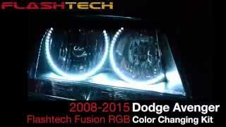 Dodge Avenger V.3 Fusion Color Change LED HALO HEADLIGHT KIT (2008-2015)