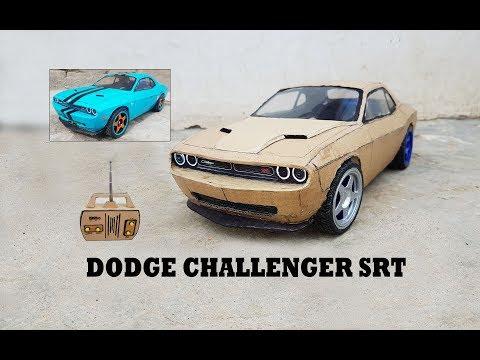 WOW! Super RC Dodge Challenger SRT || How to make Cardboard Dodge || DIY || Electric Toy Car