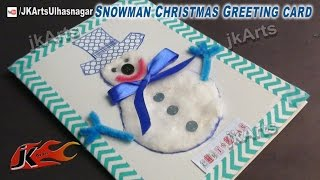 getlinkyoutube.com-how to make christmas cards  |  DIY Snowman Greeting Card | JK Arts 437