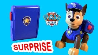 getlinkyoutube.com-Paw Patrol Backpack Surprise Chase's Pup Pack Toy FASHEMS - Juguete La Patrulla Canina Nickelodeon
