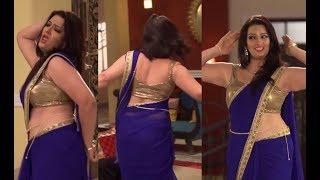 TV Actress Hot Sensual Dance Navel Show in Transparent Saree #2 | Dec 2017