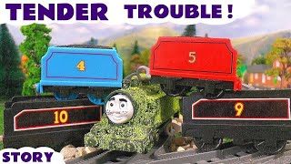 Thomas and Friends Tender Prank | Funny Family Fun Toy Train Episode with naughty Tom Moss