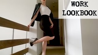 getlinkyoutube.com-WORK OUTFIT IDEAS - LOOKBOOK (pencil skirts)