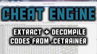 getlinkyoutube.com-[ Tutorial ] How to extract & decompile codes from Cheat Engine Trainer 2016 HD