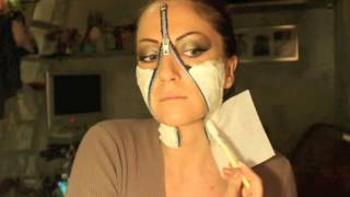 getlinkyoutube.com-Makeup Tutorial Trucco Halloween 2014 - Zip / Unzipped Face
