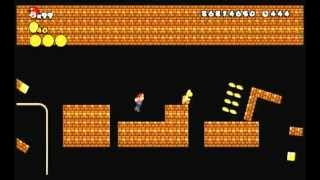 getlinkyoutube.com-改造NewスーパーマリオブラザーズWii 2-3 「ブロックファクトリー」