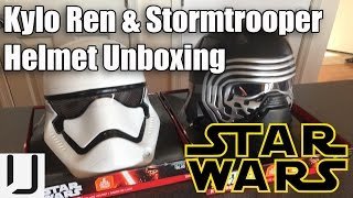getlinkyoutube.com-Star Wars Kylo Ren & Storm Trooper Helmet Unboxing / Review