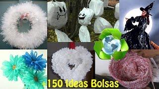 getlinkyoutube.com-Reciclar Bolsas +150 Ideas / Recycled Plastic Bags +150 Ideas