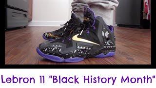 "getlinkyoutube.com-Nike Lebron 11 XI ""BHM"" 👾 🏆 Black History Month + On Feet HD (2014) Jason Donnar"